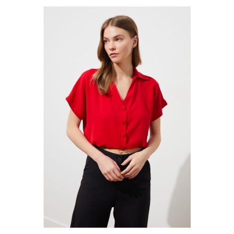 Trendyol Red Button Detailed Shirt