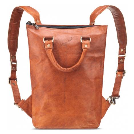Bagind Ladaya - Dámský kožený batoh hnědý, ruční výroba, český design