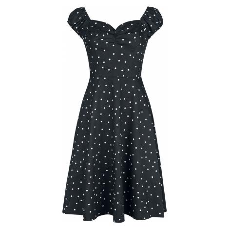 Banned Retro Šaty Sherry Spot Šaty cerná/bílá