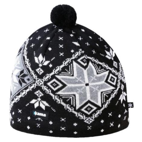 Kama A138-110 ČEPICE MERINO černá - Pánská pletená čepice