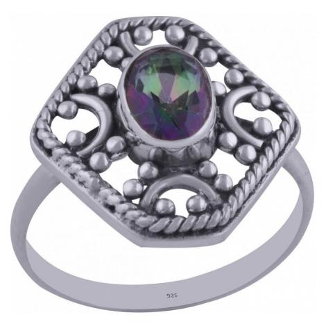 AutorskeSperky.com - Stříbrný prsten s mystickým topazem -  S841
