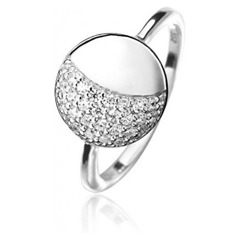 JVD Elegantní stříbrný prsten se zirkony SVLR0110SH8BI