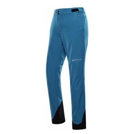 ALPINE PRO Spid Modrá / Tyrkysově Modrá Pánské rychleschnoucí Softshellové Kalhoty MPAT489600