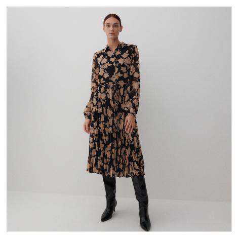 Reserved - Midi šaty s potiskem - Vícebarevná