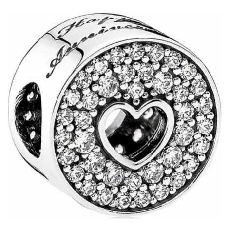 Pandora Stříbrný korálek Šťastné výročí 791977CZ