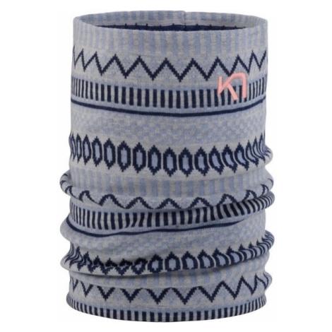 KARI TRAA AKLE TUBE šedá - Multifunkční pletený šátek