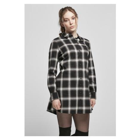 Ladies Cotton Check Shirt Dress Urban Classics