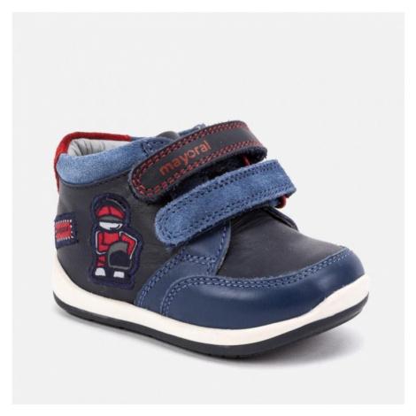 Chlapecká kožená, kotníková obuv MAYORAL 42048 | modrá