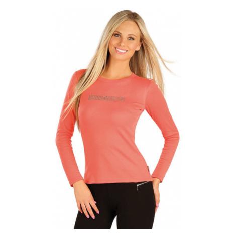 Dámské tričko s dlouhým rukávm Litex 60372 | lososová