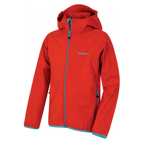 Husky Zally Kids, červená Dětská softshellová bunda