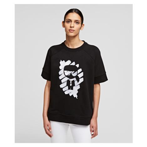 Mikina Karl Lagerfeld S/Slv Ikonik Graffiti Sweat - Černá