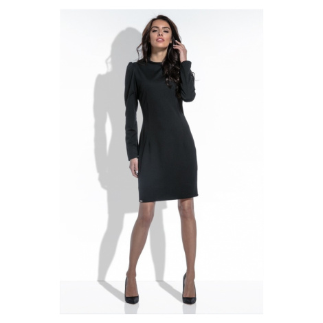Dámské elegantní šaty s řasením na rukávech F461 Fobya