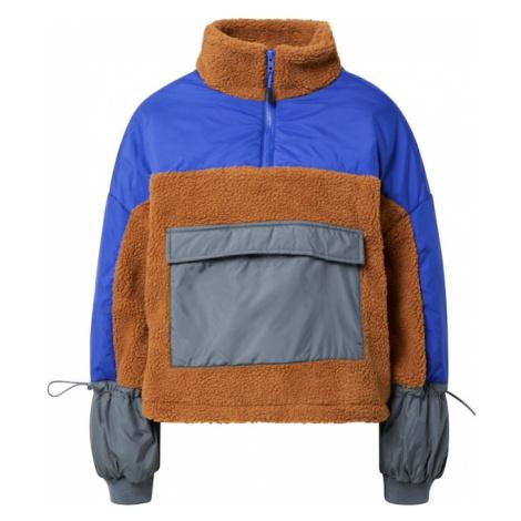 Urban Classics Přechodná bunda tmavě šedá / karamelová / svítivě modrá