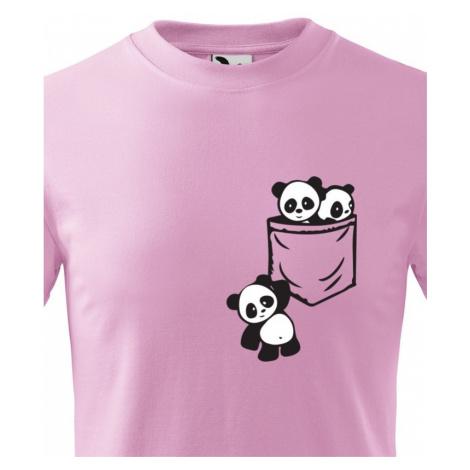 Dětské tričko Pandy v kapse - stylový originál BezvaTriko