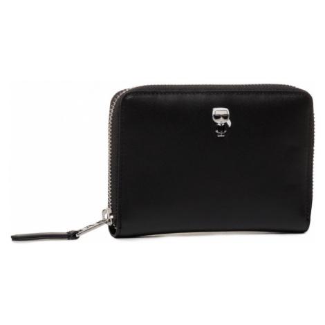 Černá kožená peněženka KARL LAGERFELD ikonik