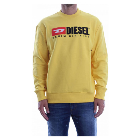 Diesel DIESEL pánská žlutá mikina s nápisem