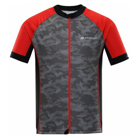 ALPINE PRO MARK Pánský cyklistický dres MTSR461423PA červená