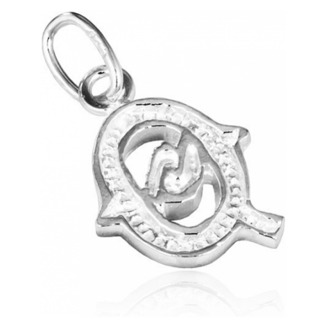 Stříbrný přívěsek 925 - písmeno Q s dekorací Šperky eshop