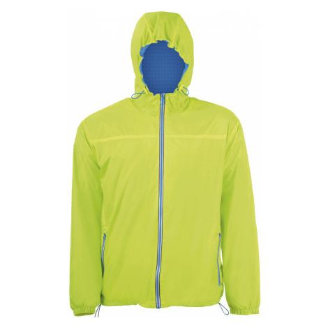 SOĽS Dámská větrovka SKATE 01171887 Neon lime / Royal blue SOL'S