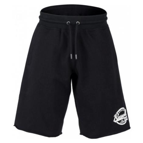 Russell Athletic COLLEGIANTE RAW EDGE SHORTS černá - Pánské šortky