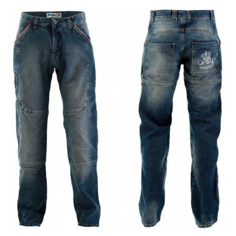 Pánské moto jeansy PMJ Boston Swot Barva modrá