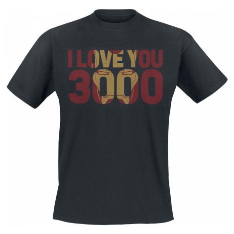 Avengers Endgame - I Love You 3000 Tričko černá
