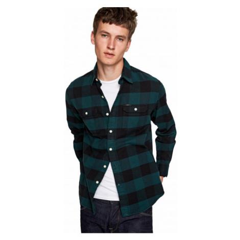 Pepe Jeans Pepe Jeans pánská zelená košile Jude