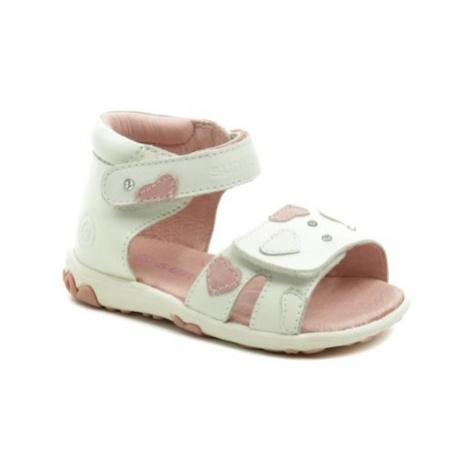 Axim Sunway 1S6938 bílé dívčí sandálky Bílá