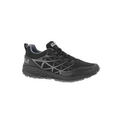 Černá šněrovací obuv Jack Wolfskin