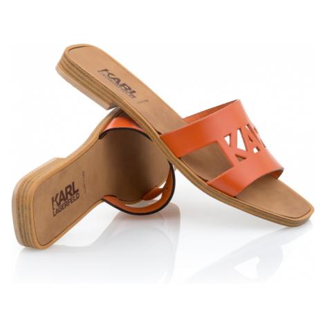 Pantofle Karl Lagerfeld Skoot Ii Karl Kut-Out - Oranžová