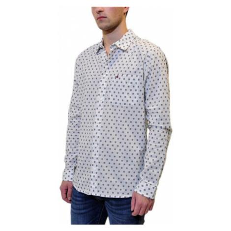 Tommy Jeans pánská bílo modrá kostičkovaná košile Tommy Hilfiger