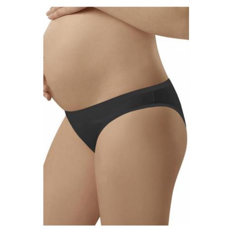 Dámské těhotenské kalhotky Italian Fashion Mama mini černé | černá