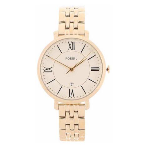 Dámské hodinky ve zlaté barvě s nerezovým páskem Fossil Jacqueline