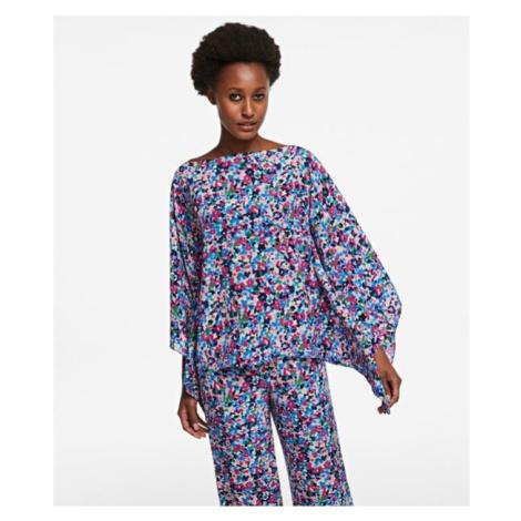 Košile Karl Lagerfeld Printed Silk Scarf Top - Různobarevná