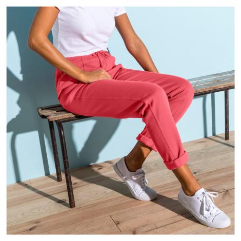 Blancheporte Meltonové sportovní kalhoty broskvová