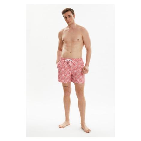 Trendyol Pink Men's Printed Swimwear