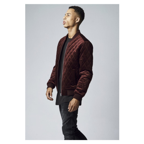 Diamond Quilt Velvet Jacket Urban Classics