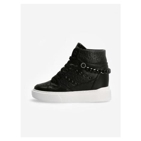Černé dámské kotníkové boty Guess