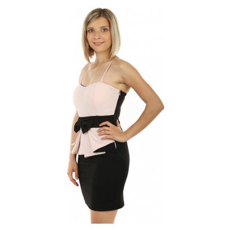 Mini šaty s mašlí a volánkem
