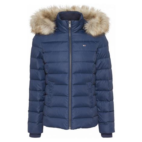 Tommy Hilfiger Tommy Jeans dámská zimní tmavě modrá bunda TJW BASIC HOODED DOWN JACKET