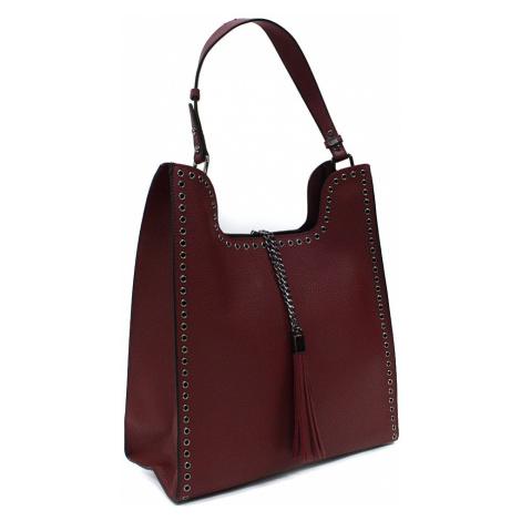 Vínově červený dámský kabelkový set 2v1 Karoline Mahel