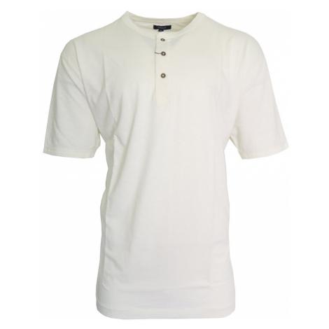 Smetanové triko s knoflíky Gant