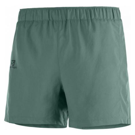 Salomon AGILE 5 SHORT M tmavě zelená - Pánské šortky