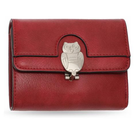 Anna Grace vínová peněženka motivem sovy 1102
