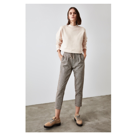 Trendyol Brown Fastening Detailed Trousers