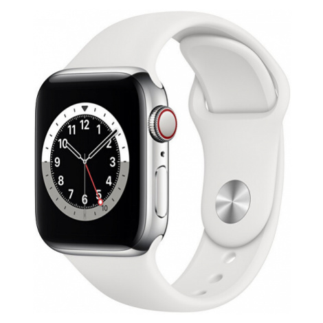 Apple Apple Watch Series GPS + Cellular, 40mm Silver Stainless Steel Case with White Sport Band