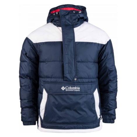 Columbia LODGE PULLOVER JACKET tmavě modrá - Pánská zimní bunda