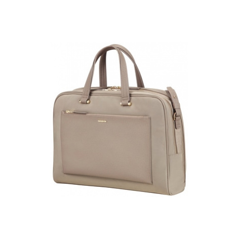"""SAMSONITE Dámská kabelka na notebook 14,1"""" Zalia Beige, 43 x 17 x 31 (74557/1030)"""