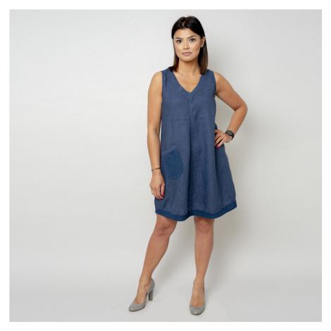 Krátké tmavě modré šaty s kapsičkou 10795 Willsoor