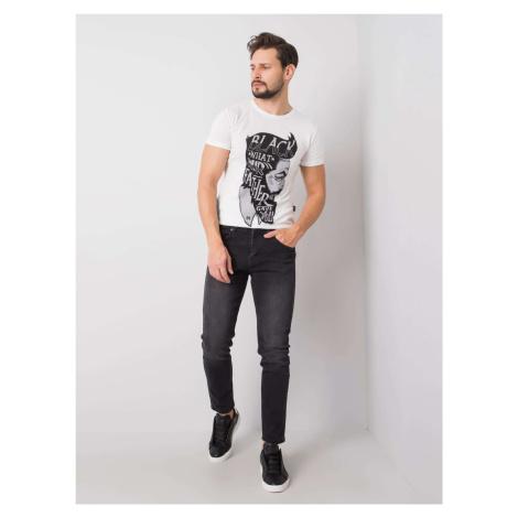LIWALI Tmavě šedé pánské džíny FPrice